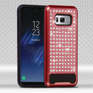 Luxury Bling Diamond Hybrid Case for Samsung Galaxy S8 Plus - Red