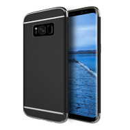 *Sale* GripTech 3-Piece Chrome Frame Case for Samsung Galaxy S8 Plus - Black