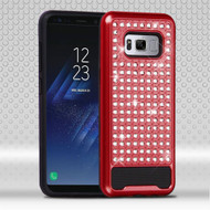 Luxury Bling Diamond Hybrid Case for Samsung Galaxy S8 - Red