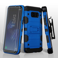 Military Grade Certified Storm Tank Hybrid Case with Holster and Screen Protector for Samsung Galaxy S8 Plus - Blue