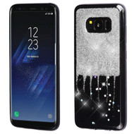 Luxury Bling Glitter Krystal Gel Case for Samsung Galaxy S8 - Dripping Silver