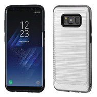 Brushed Multi-Layer Hybrid Armor Case for Samsung Galaxy S8 - Silver