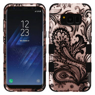 Military Grade Certified TUFF Image Hybrid Armor Case for Samsung Galaxy S8 - Phoenix Flower Rose Gold