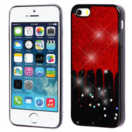 *Sale* Luxury Bling Glitter Krystal Gel Case for iPhone SE / 5S / 5 - Dripping Red