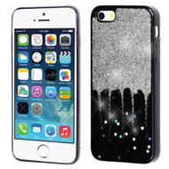 Luxury Bling Glitter Krystal Gel Case for iPhone SE / 5S / 5 - Dripping Silver