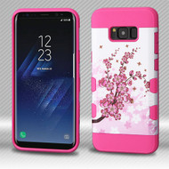 Military Grade Certified TUFF Trooper Dual Layer Hybrid Armor Case for Samsung Galaxy S8 Plus - Spring Flowers