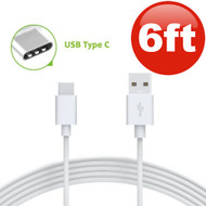 6 ft. USB 3.1 Type-C (USB-C) to Type-A (USB-A) Charge and Sync Cable - White