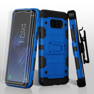 Military Grade Certified Storm Tank Hybrid Case with Holster and Screen Protector for Samsung Galaxy S8 - Blue