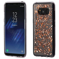 Krystal Gel Series Flakes Transparent TPU Case for Samsung Galaxy S8 Plus - Rose Gold