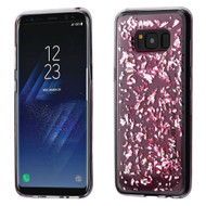 Krystal Gel Series Flakes Transparent TPU Case for Samsung Galaxy S8 Plus - Pink