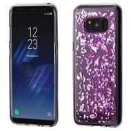 Krystal Gel Series Flakes Transparent TPU Case for Samsung Galaxy S8 Plus - Purple