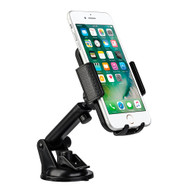 Extendable Smartphone Windshield Car Mount - Black