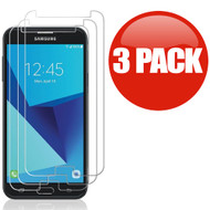 *SALE* HD Premium 2.5D Round Edge Tempered Glass Screen Protector for Samsung Galaxy J7 (2017) / J7 V / J7 Perx - 3 Pack