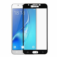 Premium Full Coverage 2.5D Tempered Glass Screen Protector for Samsung Galaxy J7 (2017) / J7 V / J7 Perx - Black
