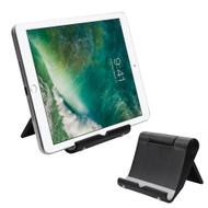 Multi-Angle Desktop Folding Stand for Tablets and Smartphones - Black