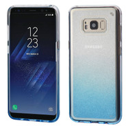 Premium Sparkling Sheer Glitter Candy Case for Samsung Galaxy S8 Plus - Gradient Blue