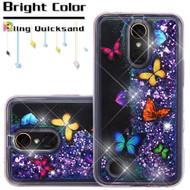Quicksand Glitter Transparent Case for LG K20 Plus / K20 V / K10 (2017) / Harmony - Butterfly Dancing