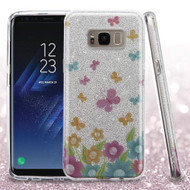 Full Glitter Hybrid Protective Case for Samsung Galaxy S8 - Butterfly