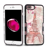 TUFF Panoview Transparent Hybrid Diamond Case for iPhone 8 Plus / 7 Plus - Eiffel Tower