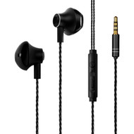 Hi-Fi Dynamic Stereo Hands-free Earphones with Microphone - Black