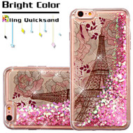 Quicksand Glitter Transparent Case for iPhone 6 / 6S - Eiffel Tower