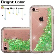Diamond Quicksand Glitter Transparent Case for iPhone 8 / 7 - Green