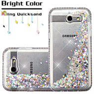 Diamond Quicksand Glitter Case for Samsung Galaxy J3 (2017) / J3 Emerge / J3 Prime / Amp Prime 2 / Sol 2 - Silver