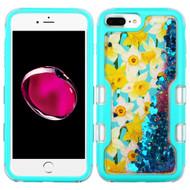 TUFF Quicksand Glitter Hybrid Armor Case for iPhone 8 Plus / 7 Plus / 6S Plus / 6 Plus - Spring Daffodils