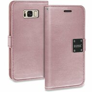 *SALE* Essential Leather Wallet Case for Samsung Galaxy S8 Plus - Rose Gold