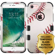 Military Grade Certified TUFF Image Hybrid Armor Case and Tempered Glass Screen Protector for iPhone 8 / 7 - Baseball