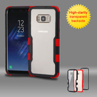 TUFF Vivid Hybrid Armor Case for Samsung Galaxy S8 Plus - Black Red