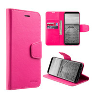 Urban Classic Leather Wallet Case for Samsung Galaxy S8 Plus - Hot Pink