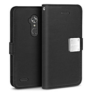 *SALE* Essential Leather Wallet Case for ZTE Max XL / Blade Max 3 - Black