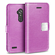 *SALE* Essential Leather Wallet Case for ZTE Max XL / Blade Max 3 - Purple