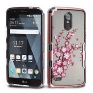*SALE* TUFF Panoview Transparent Hybrid Diamond Case for LG Stylo 3 / Stylo 3 Plus - Spring Flowers