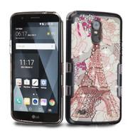 TUFF Panoview Transparent Hybrid Diamond Case for LG Stylo 3 / Stylo 3 Plus - Eiffel Tower