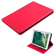 Book-Style Leather Folio Case for iPad Pro 10.5 inch - Hot Pink