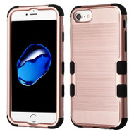 Military Grade Certified Brushed TUFF Hybrid Armor Case for iPhone 8 / 7 / 6S / 6 - Rose Gold