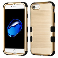 *SALE* Military Grade Certified Brushed TUFF Hybrid Armor Case for iPhone 8 / 7 / 6S / 6 - Gold