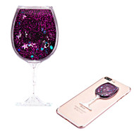 *Sale* Adhesive Quicksand Glitter Sticker - Wine Glass Purple