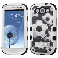 Military Grade Certified TUFF Image Hybrid Armor Case with Stand for Samsung Galaxy S3 - Soccer