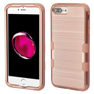 Military Grade Certified Brushed TUFF Hybrid Armor Case for iPhone 8 Plus / 7 Plus / 6S Plus / 6 Plus - Rose Gold 707