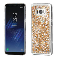 Desire Bling Bling Crystal Cover for Samsung Galaxy S8 - Rhinestones Gold