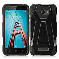 Fusion Multi-Layer Hybrid Kickstand Case for Coolpad Defiant - Black
