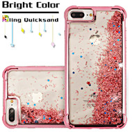 Confetti Quicksand Glitter Electroplating Case for iPhone 8 Plus / 7 Plus / 6S Plus / 6 Plus - Rose Gold