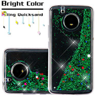 Quicksand Glitter Transparent Case for Motorola Moto E4 - Green