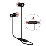 Magnetic Earbuds Bluetooth 4.1 Wireless Aluminum Alloy Headphones - Black