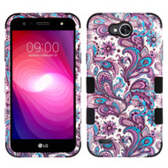 Military Grade Certified TUFF Image Hybrid Armor Case for LG X Power 2 / Fiesta - Persian Paisley