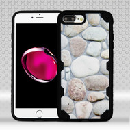 Military Grade Certified Challenger Graphic Hybrid Case for iPhone 8 Plus / 7 Plus - Rocky Pebbles