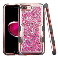 TUFF Vivid Mini Crystals Hybrid Armor Case for iPhone 8 Plus / 7 Plus - Hot Pink Rose Gold